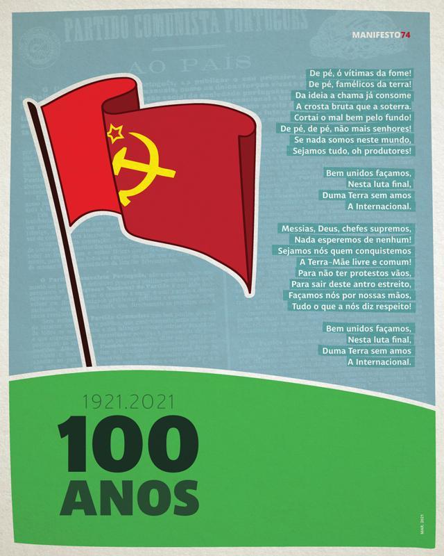 6 de Março de 1921. O PCP faz 100 anos de luta